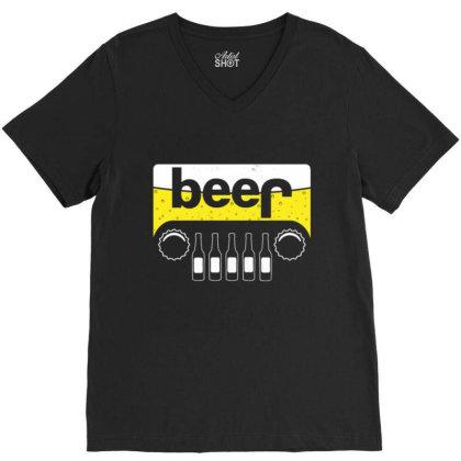 Jeep Beer 1 V-neck Tee Designed By Kakashop