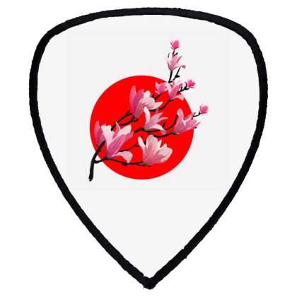 Sakura Blossom Red Moon Shield S Patch Designed By 90stings