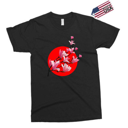 Sakura Blossom Red Moon Exclusive T-shirt Designed By 90stings