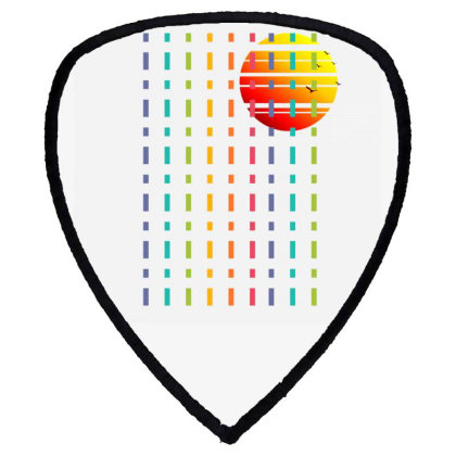 Rainbow Sunset Line Shield S Patch Designed By 90stings