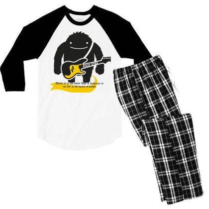 Rock Star Men's 3/4 Sleeve Pajama Set Designed By Mr.prit