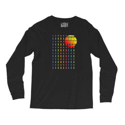 Rainbow Sunset Line Long Sleeve Shirts Designed By 90stings