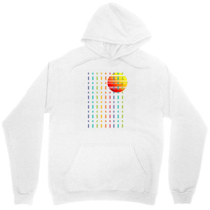 Rainbow Sunset Line Unisex Hoodie Designed By 90stings