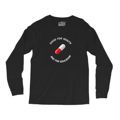 Good For Health Fitted Scoop Long Sleeve Shirts Designed By 90stings