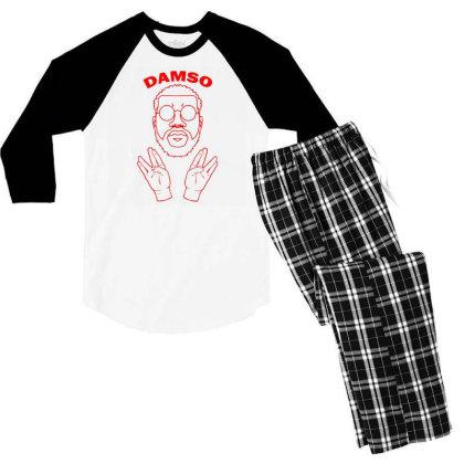 The Vie Damso Men's 3/4 Sleeve Pajama Set Designed By 90stings
