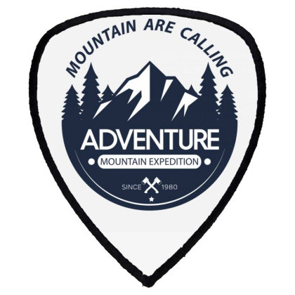 The Mountains Are Calling Shield S Patch Designed By 90stings