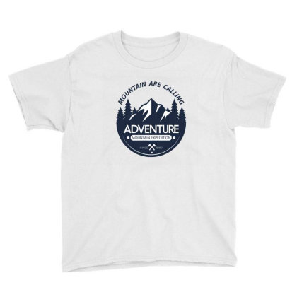 The Mountains Are Calling Youth Tee Designed By 90stings