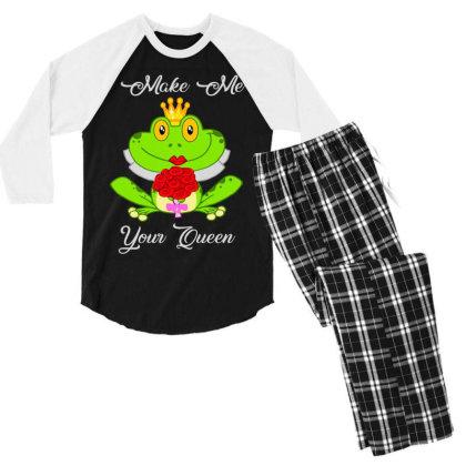 Frog Queen Men's 3/4 Sleeve Pajama Set Designed By Kakashop