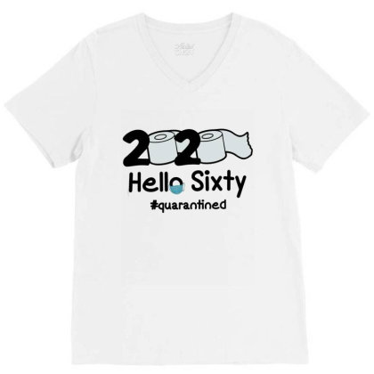 60th Hello Sixty V-neck Tee Designed By Cuser3146