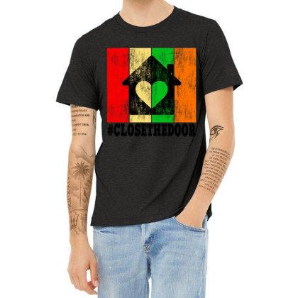 Closethedoor Heather T-shirt Designed By Littlepoppy
