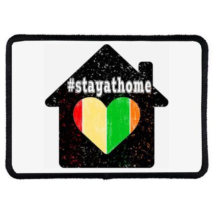 Stayathome Rectangle Patch Designed By Littlepoppy