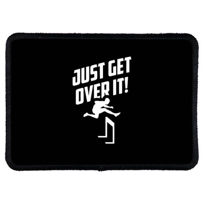 Just Get Over It Hurdling Rectangle Patch Designed By Ramateeshirt