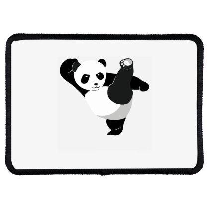 Karate Panda Rectangle Patch Designed By Ramateeshirt
