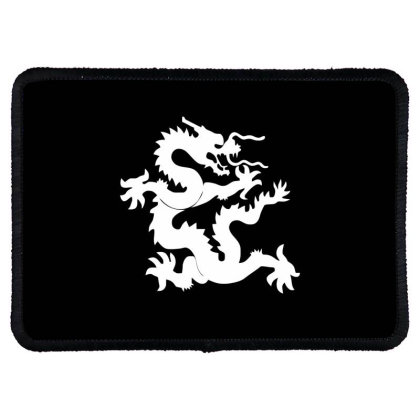 Kung Fu Dragon Rectangle Patch Designed By Ramateeshirt