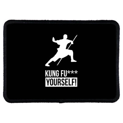 Kung Fu Xx Yourself Rectangle Patch Designed By Ramateeshirt