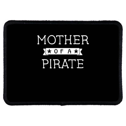 Mother Of A Pirate Rectangle Patch Designed By Ramateeshirt