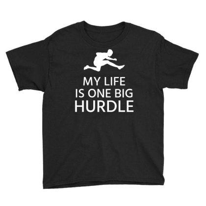 My Life Is One Big Hurdle Youth Tee Designed By Ramateeshirt
