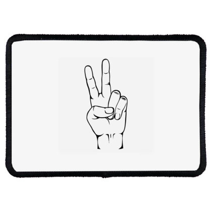 Peace Sign Rectangle Patch Designed By Ramateeshirt