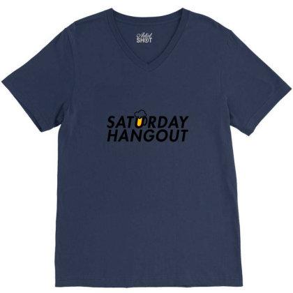 Saturday Hangout V-neck Tee Designed By Asatya