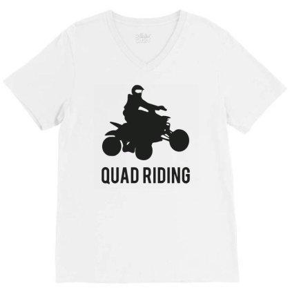 Quad Riding V-neck Tee Designed By Ramateeshirt