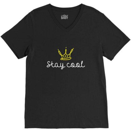 Stay Cool V-neck Tee Designed By Asatya