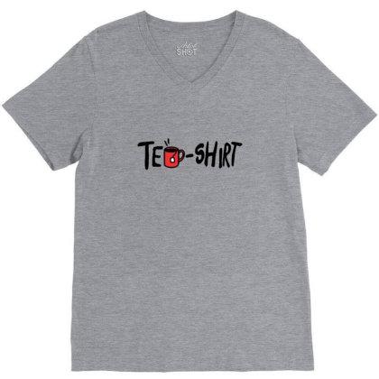 Tea Shirt V-neck Tee Designed By Asatya