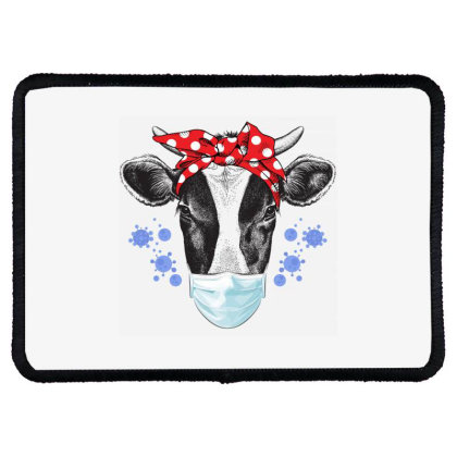 Quarantine Cow Rectangle Patch Designed By Gurkan