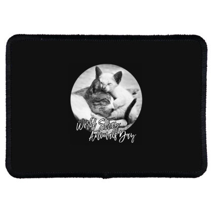 World Stray Animals Day Rectangle Patch Designed By Gurkan