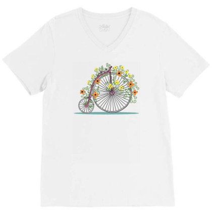 Bicycle Rr V-neck Tee Designed By Anis4