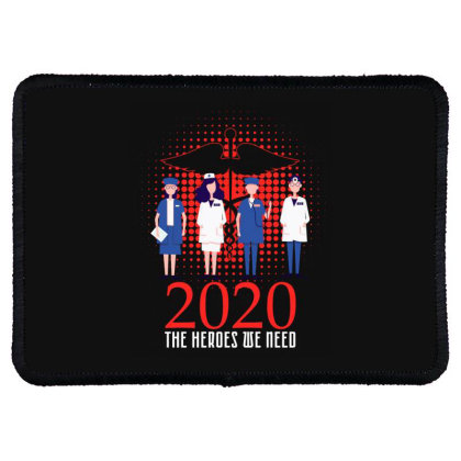 The Heroes We Need Doctors For Dark Rectangle Patch Designed By Gurkan