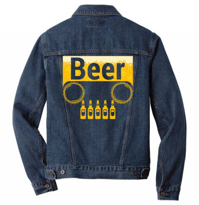 Beer Jeep Men Denim Jacket Designed By Gurkan