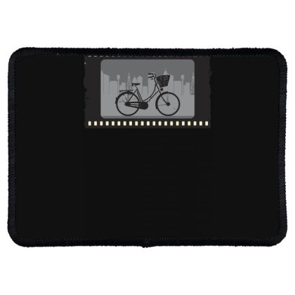 Bike Retro M Rectangle Patch Designed By Anis4