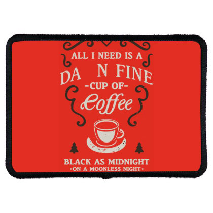 Black As Midnight Rectangle Patch Designed By Anis4
