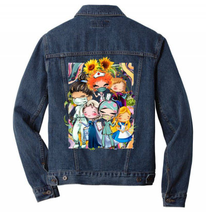 Not All Princesses Need To Be Saved Men Denim Jacket Designed By Tiococacola