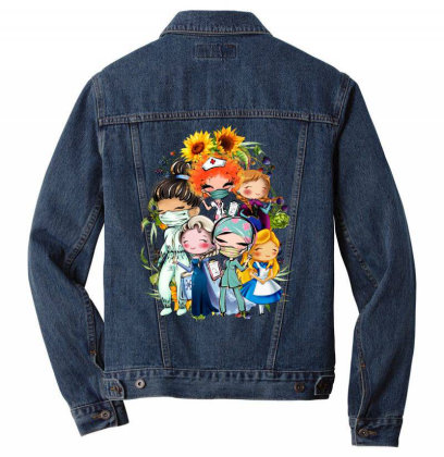 All American Princess Men Denim Jacket Designed By Tiococacola