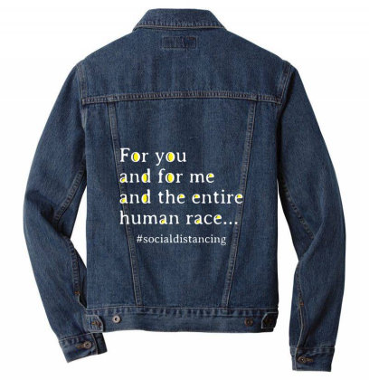 Song And Social Distancing Men Denim Jacket Designed By Alececonello