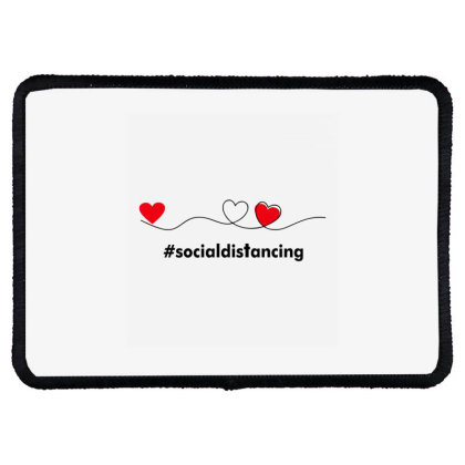 Love In Social Distancing Rectangle Patch Designed By Alececonello