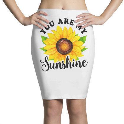 You Are My Sunshine With Sunflower Pencil Skirts Designed By Honeysuckle