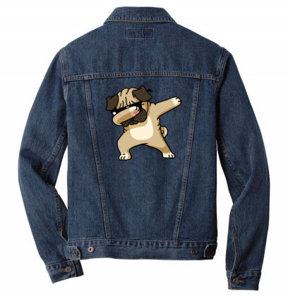 Dabbing Pug Funny Shirt Dancing Hip Hop And The Dab Pose Men Denim Jacket Designed By Vomaria