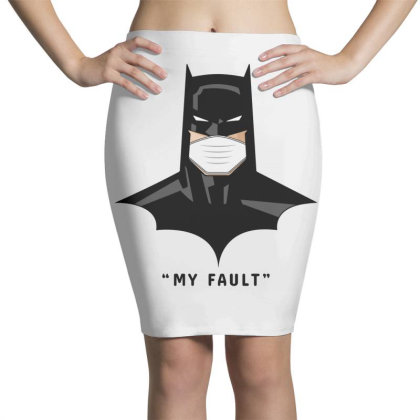 Batman Says My Fault Pencil Skirts Designed By Honeysuckle