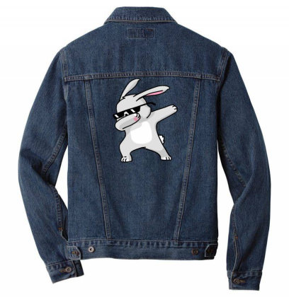 Dabbing Easter Bunny Funny Shirt Dab Hip Hop Men Denim Jacket Designed By Vomaria