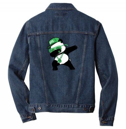 Dabbing Panda Funny Shirt Dab Hip Hop Men Denim Jacket Designed By Vomaria