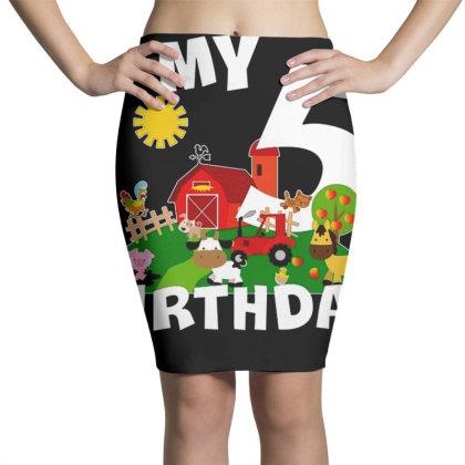 5 Year Old Farm My 5th Birthday Pencil Skirts Designed By Jimmy