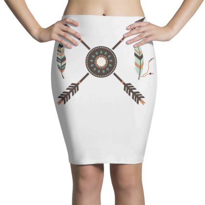 Boho Arrows Pencil Skirts Designed By Anis4