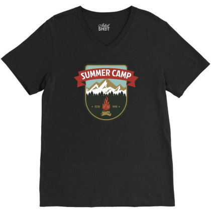 Camper Vi V-neck Tee Designed By Anis4