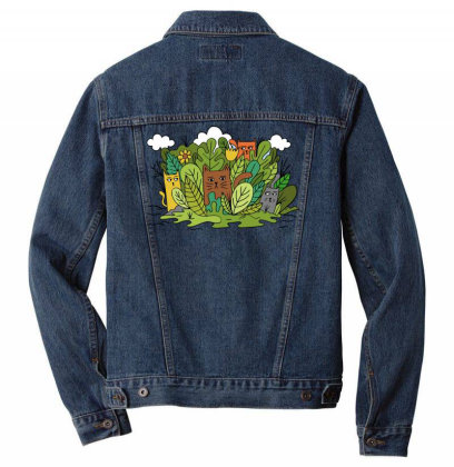 Cats Nature Men Denim Jacket Designed By Anis4