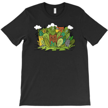 Cats Nature T-shirt Designed By Anis4