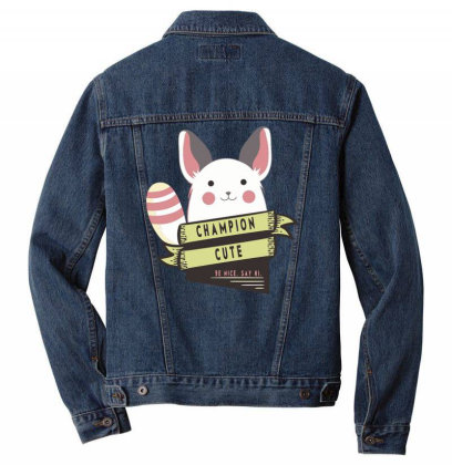 Champion Cute Chinchilla Men Denim Jacket Designed By Anis4