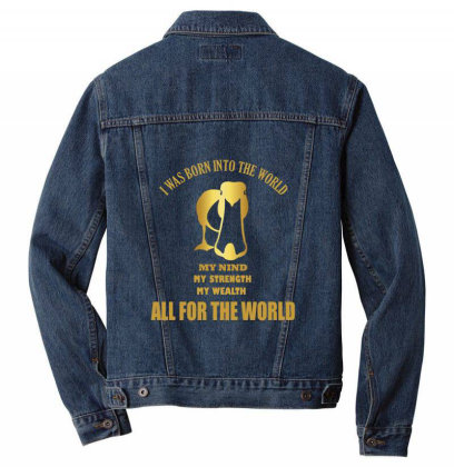 I Was Born Into The World Men Denim Jacket Designed By Cuser2397