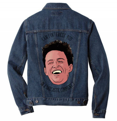 Chandler Bing Vectorized Men Denim Jacket Designed By Anis4